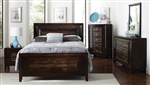 Marshall Crocodile Embossed 6 Piece Bedroom Set in Brown Finish by Coaster - 203561