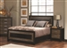 Landon Bed in Two Tone Brown and Black Finish by Coaster - 203571Q