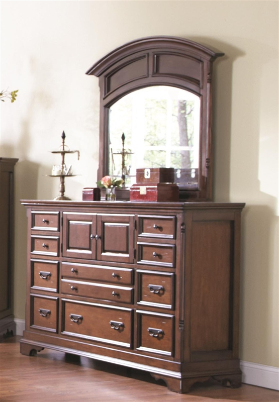 Savannah 6 Piece Bedroom Set In Burnished Cognac Finish By Coaster 203591
