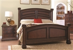 Savannah Bed in Burnished Cognac Finish by Coaster - 203591Q