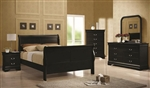 Louis Philippe 6 Piece Bedroom Set in Black Finish by Coaster - 203961