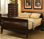 Louis Philippe Bed in Rich Cappuccino Finish by Coaster - 203981NQ