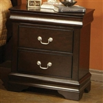Louis Philippe Nightstand in Rich Cappuccino Finish by Coaster - 203982N