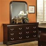 Louis Philippe Dresser in Rich Cappuccino Finish by Coaster - 203983N
