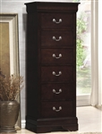Louis Philippe Lingerie Chest in Rich Cappuccino Finish by Coaster - 203987N