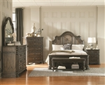 Carlsbad Panel Bed 6 Piece Bedroom Set in Vintage Espresso Finish by Coaster - 204041