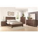 Lancashire 6 Piece Bedroom Set in Wire Brushed Cinnamon Finish by Coaster - 204111
