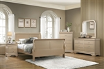 Hershel Louis Philippe 6 Piece Bedroom Set in Metallic Champagne Finish by Coaster - 204421