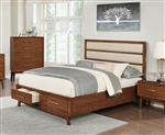 Banning Storage Bed in Dark Mango Finish by Coaster - 204440Q