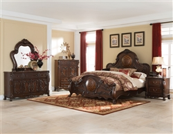 Abigail 6 Piece Bedroom Set in Cherry Finish by Coaster - 204450