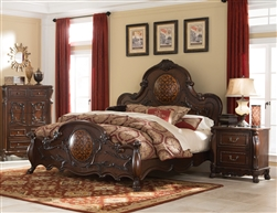 Abigail Bed in Cherry Finish by Coaster - 204450Q
