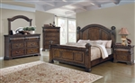 Satterfield Poster Bed 6 Piece Bedroom Set in Warm Bourbon Finish by Coaster - 204541