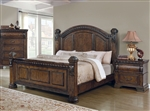 Satterfield Poster Bed in Warm Bourbon Finish by Coaster - 204541Q