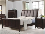 Madison Bed in Dark Merlot Finish by Coaster - 204881Q