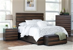 Octavia Bed in Coffee and Sappy Walnut Finish by Coaster - 205121Q