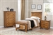 Brenner Storage Bed 4 Piece Youth Bedroom Set in Rustic Honey Finish by Coaster - 205260-T