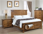Brenner Storage Bed in Rustic Honey Finish by Coaster - 205260Q