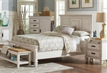 Franco Bed in Antique White Finish by Coaster - 205331Q