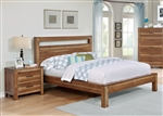 Ethan Bed in Natural Brown Finish by Coaster - 205651Q