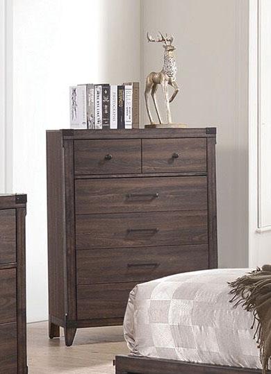 Richmond 6 Piece Bedroom Set In Dark Grey Oak Finish By Coaster 205710