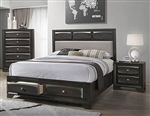 Decker Storage Bed in Brownish Graphite Finish by Coaster - 206280Q