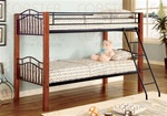 Twin/Twin Wood and Metal Bunk Bed by Coaster - 2248
