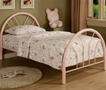 Twin Bed in Pink Finish by Coaster - 2389P