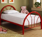 Twin Bed in Red Finish by Coaster - 2389R