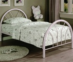 Twin Bed in White Finish by Coaster - 2389W