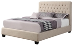Chloe Twin or Full Oatmeal Linen Upholstered Bed by Coaster - 300007T