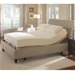 Pinnacle Premier Bedding Adjustable Bed Base Cal. King Size Adjustable Bed with Massage and Wireless Remote by Coaster - 300130KWM