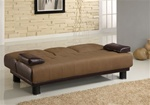 Brown Microfiber/Vinyl Sofa Bed by Coaster - 300134