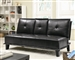 Black Leather Like Vinyl Sofa Bed by Coaster - 300138