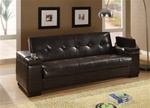Sofa Bed in Dark Brown By-cast Upholstery by Coaster - 300143
