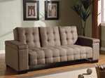 Sofa Bed in Tan Microfiber Cover by Coaster - 300146