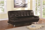 Brown Vinyl Sofa Bed by Coaster - 300148