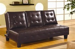 Dark Brown Vinyl Sofa Bed by Coaster - 300153