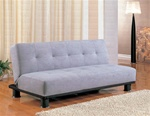 Gray Microfiber Sofa Bed by Coaster - 300164