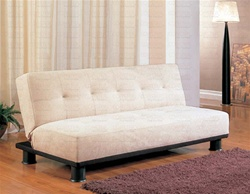 Beige Microfiber Sofa Bed by Coaster - 300165