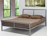 Queen Bed in Silver Metal Finish by Coaster - 300201Q