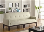 Creme Leather Like Vinyl Sofa Bed by Coaster - 300226