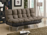 Two Tone Microfiber Sofa Bed by Coaster - 300306