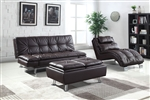 Dilleston Sofa Bed in Brown Leatherette Upholstery by Coaster - 300321