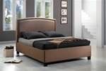 Queen Bed in Tan Fabric Upholstery by Coaster - 300333Q