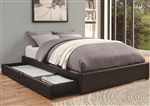 Black Leather Like Upholstered Storage Bed by Coaster - 300386Q