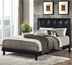Granados Upholstered Bed with Black Leatherette by Coaster - 300404Q