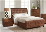 Gallagher Upholstered Bed in Golden Brown Finish by Coaster - 300665Q