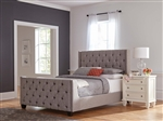 Palma Grey Fabric Upholstered Bed by Coaster - 300708Q