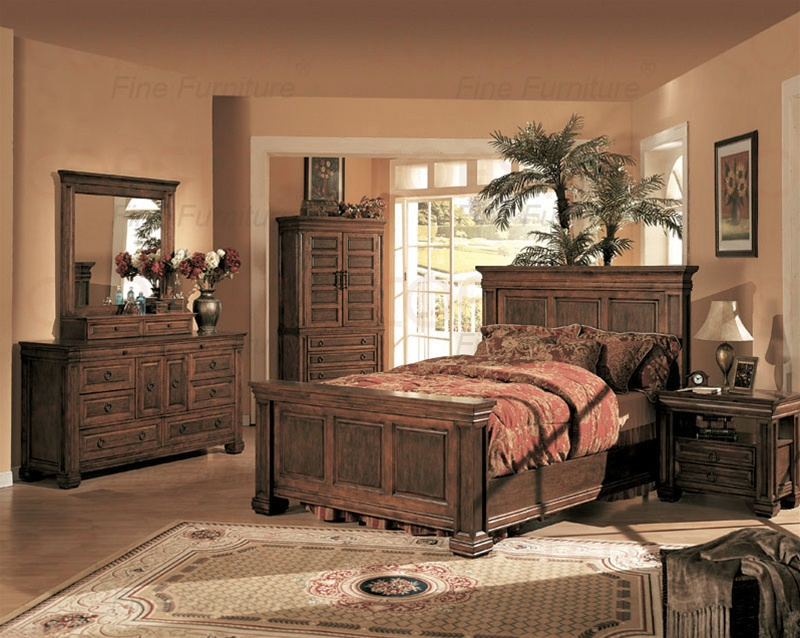 piece westminster bedroom set in cherry finish by coaster 3490