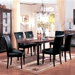 Soho 7 Piece Dining Set in Cherry Finish by Coaster - 3651